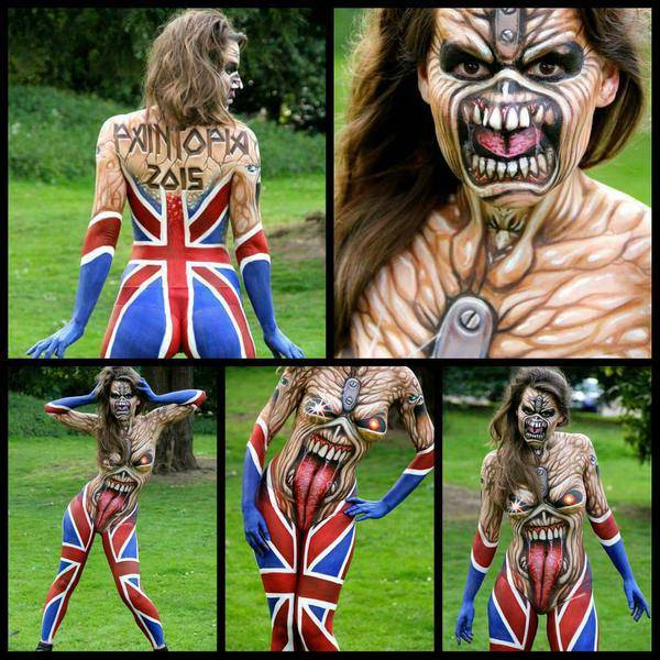 Check Out This Awesome Iron Maiden Body Paint Music News Ultimate Guitar Com