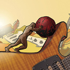 paul gilbert: Stone Pushing Uphill Man