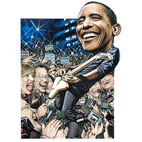 Obama Calls On Rock Stars For Support