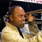Metallica Drummer Lars Ulrich Blows At Playing The Trombone