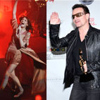 Bono Teaches Singer How To Dance In High Heels
