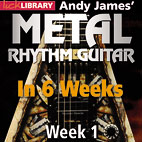 Lick Library Launches Andy James' Metal Rhythm Guitar In 6 Weeks
