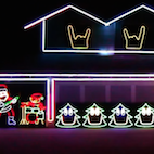 Check Out This Insane Slipknot Christmas Light Show