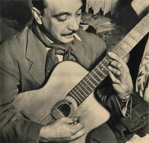 gypsy jazz harmonics in the style of django reinhardt