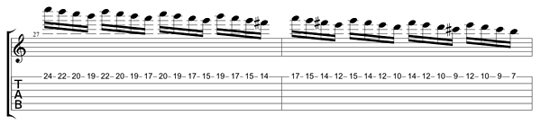 how to play blackened solo