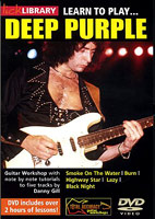 Deep Purple: Lick Library: Learn To Play Deep Purple [DVD]