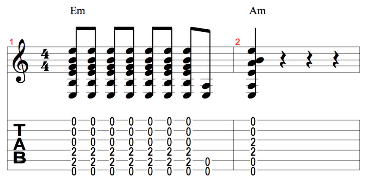 Переход между аккордами