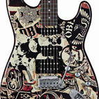 OBEY Graphic Stratocaster HSS Collage