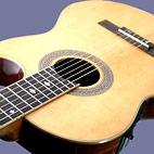 Skylark: Roundback Cutaway Electro-Acoustic Nylon String Guitar