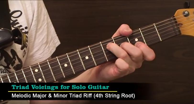 Triad Chord Voicings in Solo Guitar