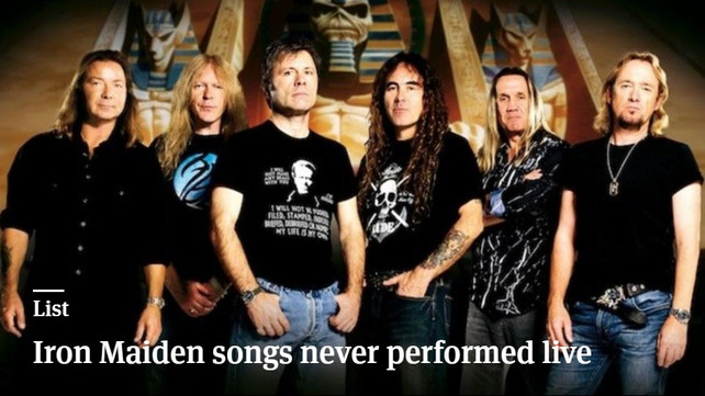 10 Amazing Iron Maiden Songs Never Performed Live