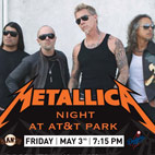 Metallica Performing The National Anthem At The San Francisco Giants Game