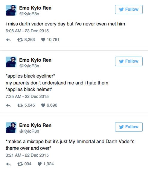 Hilarious Twitter Account Reimagines Star Wars Villain