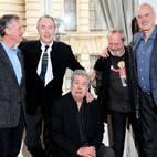 The Rolling Stones Film Monty Python Sketch for Reunited Comics' Press Conference