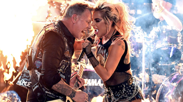 Lady Gaga Moshed And Crowdsurfed Through Her Grammys Duet With Metallica