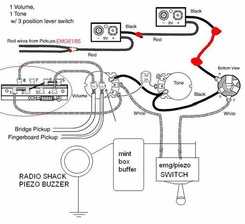 emg active 81 85 zw wiring diagram piezo / emg 81 85 / mint box buffer - ultimate guitar 81 club car wiring diagram